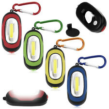 Super Bright Portable COB LED Light Flashlight Keyring Torch 3Mode Keychain Lamp