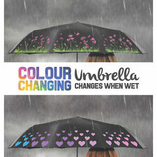 Black Compact Folding Colour-Changing Anti-UV Compact Umbrella