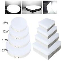 Bright 6/12/18/24W LED Panel Recessed Ceiling Down Light Lamp Cold WHT Bulb Kit