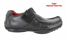 Mens Red Tape Kinder Black Leather Lace Up Moccasin Style Shoes UK Sizes