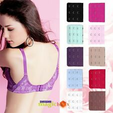 1PC 3X3 Lady Hook Bra Extenders Strap Extension 10 Colors BFE