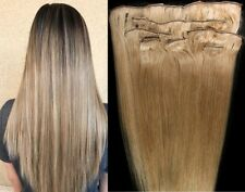 """18"""",20"""",22"""",24"""",26"""" 100% REMY Human Hair Extensions 7Pc Clip in #18 Dark Blonde"""