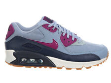 NEW WOMENS NIKE AIR MAX 90 RUNNING SHOES TRAINERS BLUE GREY / BRIGHT GRAPE / MID