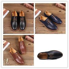 Men's Leather Shoes Fashion British Style Oxfords Dress Formal Casual Loafers