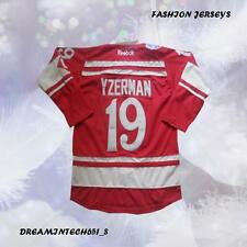 2014 Winter Detroit Red Wings Steve Yzerman 19# Stitched Hockey Jersey Red