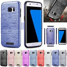 Hybrid Slim Brush Shockproof Protective Hard Case Cover Skin For Samsung Galaxy