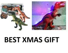 RADIO REMOTE CONTROLLED T-REX LIGHT UP TOY ROBOT SOUND GAME XMAS GIFT DINOSAUR