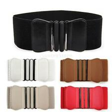 Women's Vintage Bow Flower Elastic Stretch Buckle Waist Belt Fashion Waistband