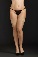 Queen Size Sheer thigh highs with lace top. More Colors