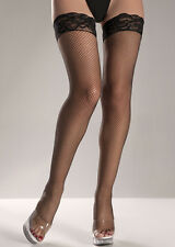 Lace-top Fishnet Thigh Highs Item#: BW510