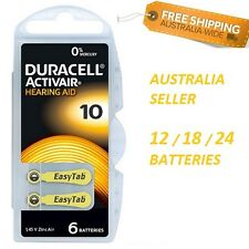 Duracell Hearing Aid Batteries Size 10 Yellow ~ Exp 2020-06