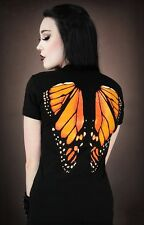 Restyle Monarch Butterfly Wings T-shirt Gothic Alternative Steampunk Tee Top