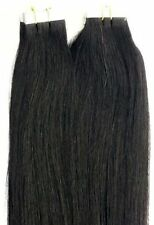 """18"""",20"""" 100gr,40pc, 100% Human Tape In Hair Extensions #1 Jet Black"""