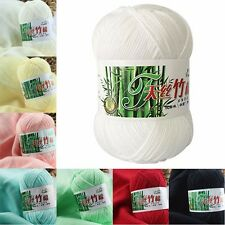 New 50g Bamboo Cotton Baby Yarn Balls Soft Knitting Wool 23 Colors For Choose