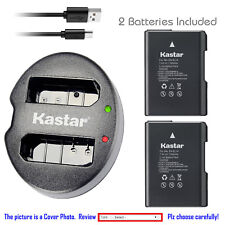 Kastar Battery & USB Dual Charger for Nikon EN-EL14 Coolpix P7000 D3100 D5100