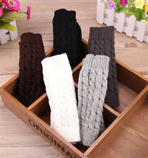 Women Winter Wrist Arm Hand Warmer Knitted Long Fingerless Gloves Mitten