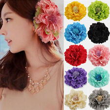5 PCs Women Bridal Wedding Peony Flower Hair Clip Barrette Brooch Girls Accessor
