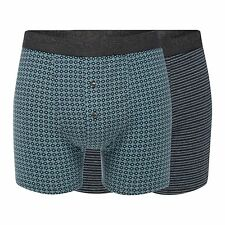 Rjr.John Rocha Mens Big And Tall Pack Of Two Dark Grey Patterned Boxers