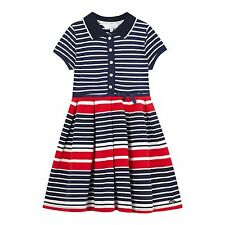 J By Jasper Conran Kids Girls' Navy And Red Striped Jersey Polo Dress