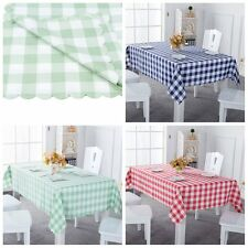 Polyester Plaid Tablecloth Dining Kitchen Table Cover Protector Xmas 140x220cm