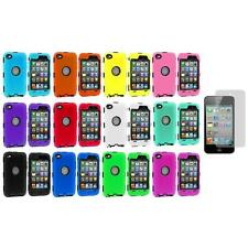 Deluxe Color Hybrid Case Cover+Guard+Screen Protector for iPod Touch 4th Gen 4G