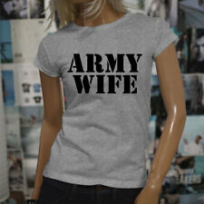 ARMY WIFE ARMED SPECIAL FORCES PROUD MILITARY Womens Gray T-Shirt