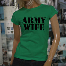 ARMY WIFE ARMED SPECIAL FORCES PROUD MILITARY Womens Green T-Shirt