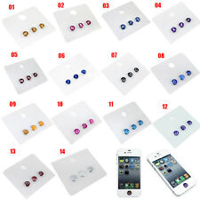 New Skull Decorated Aluminum Home Button Sticker for iPhone iPod Touch iPad Mini