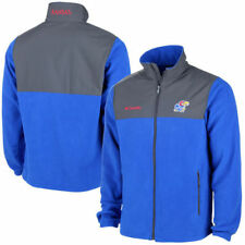 Columbia Kansas Jayhawks Royal Blue Fast Tech Overlay Fleece