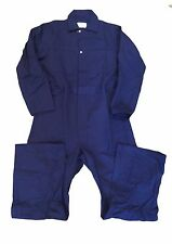 100% Cotton Men's Coveralls Zipper - Closure Navy Blue Work Uniform - Many Sizes
