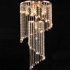 Crystal Pendant Lamp Rotate 2-Tier Crystal Flush mount Ceiling Light Fixture