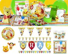 Winnie the Pooh Birthday Party Supplies Tableware Plates Napkins Cups Loot