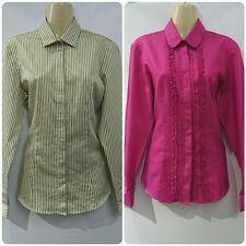 Ex LADIES T M LEWIN FULLY FITTED SHIRTS SIZE 10 STRIPED SPOTTY PLAIN BNWOT