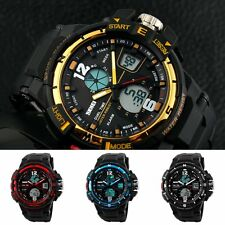 Fashion Sport Waterproof Mens LED Digital Analog Quartz Date Alarm Wrist Watch