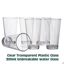 Unbreakable Clear Transparent Plastic 300ml Water Glass Tumbler Iced Tea Glasses