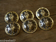 6x Royal Gloucester Regiment Military Buttons Gold or Bronze 13mm 18mm 22mm