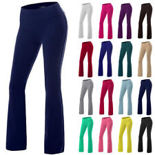 Yoga Pants Womens Athletic Foldover Stretch Gym Casual Comfy Soft Lounge