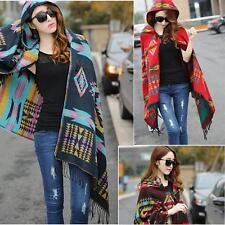 Women Batwing Cape #L Poncho Knit Top Cardigan Sweater Coat Hip Scarf Shawl
