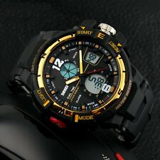 Fashion Mens Boys Military Digital LED Date Sport Quartz Wrist Watch Waterproof