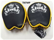 TOP KING FOCUS MITTS PADS TKFMP BLACK YELLOW FREE SIZE TRAINING SPARRING MMA K1