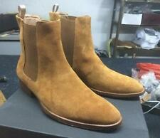 Mens High Top Chelsea Ankle Boots Suede Leather Chukka Retro Vintage Shoes F102