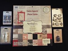 NEW-recollections 12x12 paper-union square-plaza-red glitter & 4 tim holtz packs