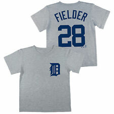 Majestic Prince Fielder Detroit Tigers Preschool Gray Name and Number T-Shirt