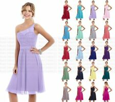 A Shoulder Lace Bridesmaid Dress Short Formal Evening Party Cocktail Prom Dress