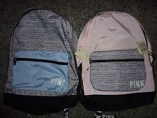 VICTORIAS SECRET PINK NEWEST FULL SIZE MARLED LARGE BACKPACK ZIP BOOK LAPTOP NWT