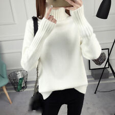 new Autumn winter Korean fashion trend loose  High collar knitting sweater coat