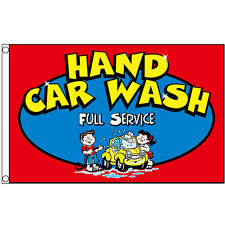 HAND CAR WASH Flag 3x5ft Business Advertising Sign Banner Flag Auto Detailing