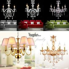 Contemporary 3/4/5/6 Lamp Dining Room Crystal Pendant Ceiling Light Chandelier
