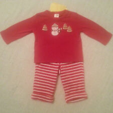 NEW Gymboree baby boys red snowman 2pc holiday outfit red size 6 9 12 18 months