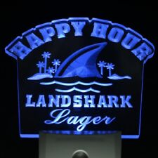Landshark Lager Led Night Light lamp Sign Beer Happy Hour home Bar room decor